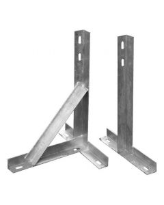 "12"" T&K Bracket Set Galvanised With Support Arm"