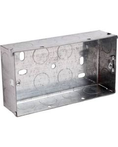 25mm Deep Double Metal Back Box