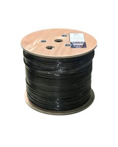 305m Premium CAT6 PE Duct Grade Cable - Black *Wood Reel*