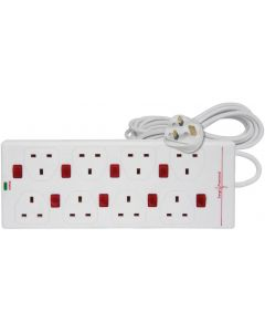 8 Way Surge Protected Extension Lead - 2m