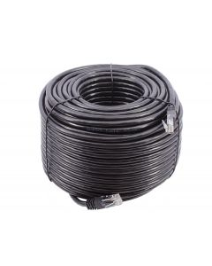 50m SMEDZ CAT6 Lead, Black, UTP, Full Copper, External