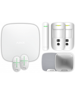 Ajax Kit 1 Hub2 - Hub 2, DoorProtect, HomeSiren, StreetSiren, 2x MotionCam, 2x SpaceControl (White)