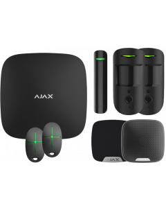 Ajax Kit 1 Hub2 - Hub 2, DoorProtect, HomeSiren, StreetSiren, 2x MotionCam, 2x SpaceControl (Black)