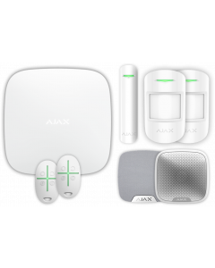 Ajax Kit 1 - Hub, DoorProtect, HomeSiren, StreetSiren, 2x MotionProtect, 2x SpaceControl (White)