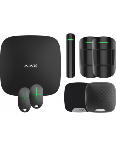 Ajax Kit 1 Plus - Hub Plus, DoorProtect, HomeSiren, StreetSiren, 2x MotionProtect, 2x SpaceControl (Black)