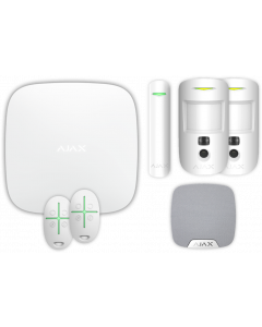 Ajax Kit 2 Hub 2 - Hub 2, DoorProtect, HomeSiren, 2x MotionCam, 2x SpaceControl (White)