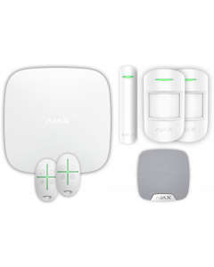 Ajax Kit 2 Plus - Hub Plus, DoorProtect, HomeSiren, 2x MotionProtect, 2x SpaceControl (White)