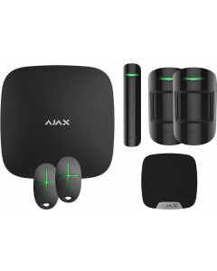Ajax Kit 2 - Hub, DoorProtect, HomeSiren, 2x MotionProtect, 2x SpaceControl (Black)