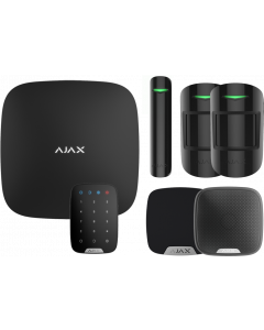 Ajax Kit 3 Plus - Hub Plus, DoorProtect, HomeSiren, StreetSiren, KeyPad, 2x MotionProtect (Black)