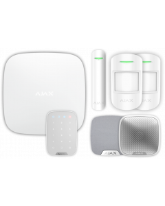 Ajax Kit 3 Plus - Hub Plus, DoorProtect, HomeSiren, StreetSiren, KeyPad, 2x MotionProtect (White)