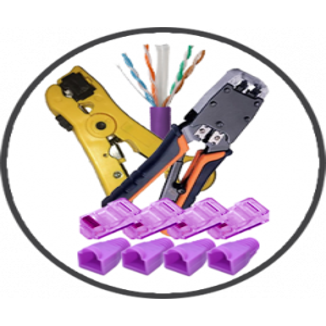 *SPECIAL OFFER* Purple 305m CAT6 LSZH Bundle (Crimp & Stripping Tools, Purple Cable, Connectors, RJ45s)