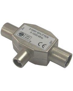 2 -Way Metal IEC Coax T Splitter