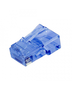 (100) Blue RJ45 Male Plug (8P8C) - CAT5e Connector