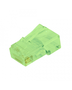 (100) Green RJ45 Male Plug (8P8C) - CAT5e Connector
