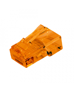 (100) Orange RJ45 Male Plug (8P8C) - CAT5e Connector