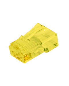(100) Yellow RJ45 Male Plug (8P8C) - CAT5e Connector