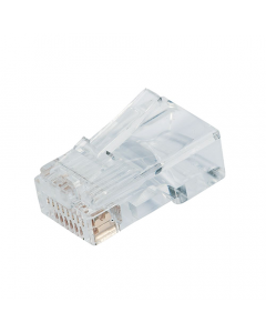 (100) RJ45 Clear CAT5e Modular Crimp Connectors (8P8C)