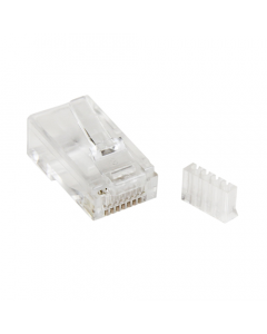 (100) RJ45 CAT5e 2 Piece Crimp Connector