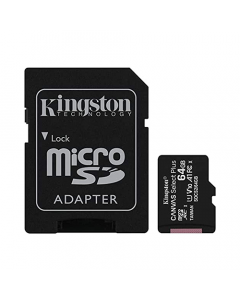 Kingston 64GB MicroSD Card + Adapter to SD Included