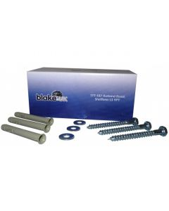 (50) 10 X 80mm Fixing Bolts & Lipped Plugs