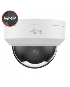 Noctis Pro NP-C-D5P30-SL-28 5MP, 2.8mm Fixed Lens, 30M IR, Alarm & Audio I/O, White IP Anti-Vandal Dome
