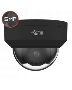 Noctis Pro NP-C-D5P30-SL-28-B 5MP, 2.8mm Fixed Lens, 30M IR, Alarm & Audio I/O, Black IP Anti-Vandal Dome