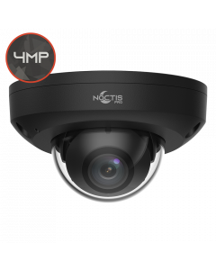 Noctis Pro NP-C-DM4P15-MS-28-B 4MP, 2.8mm Fixed Lens, 15M IR, Mic, Audio I/O, Black IP Mini Dome
