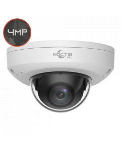 Noctis Pro NP-C-DM4P15-MS-28 4MP, 2.8mm Fixed Lens, 15M IR, Mic, Audio I/O, White IP Mini Dome