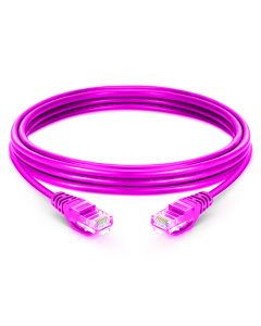 0.25M CAT6 LSZH Snagless Copper Patch Lead - Purple