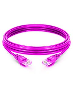 CAT6 LSZH Snagless Copper Patch Lead - Purple