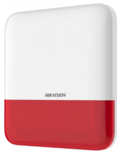 Hikvision AX Pro Wireless External Alarm Sounder - Red