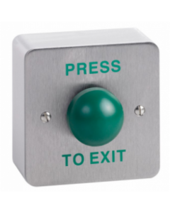 Surface Stainless Steel Green Dome Press To Exit Button