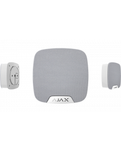 Ajax HomeSiren - Indoor, Customisable Audible Alarm (White)