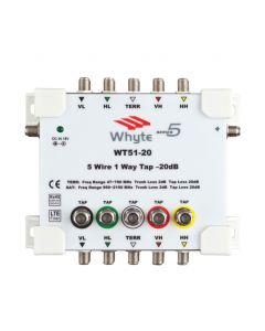 Whyte Series WT51-20 5 Wire 1-way tap - 20dB