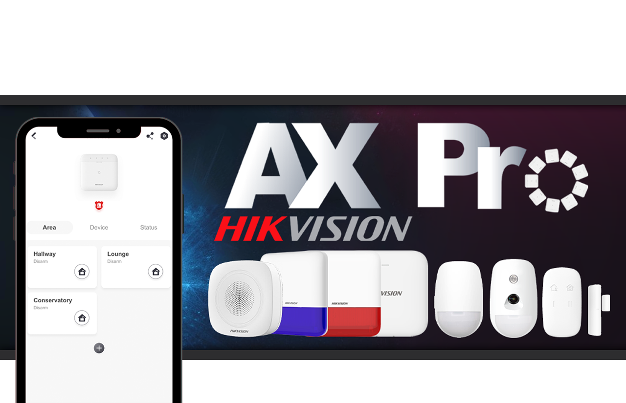Hikvision AX PRO Alarms Overview & Hik-Connect controls
