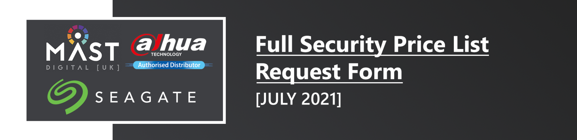 Mast Digital - Full Security Price List Request Form - July 2021