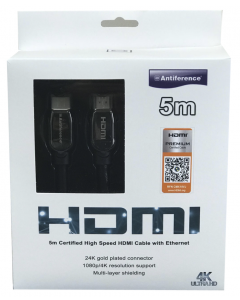 Antiference Certified High Speed HDMI Cable with Ethernet - 5m length