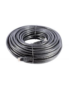 20m SMEDZ CAT6 Lead, Black, UTP, Full Copper, External