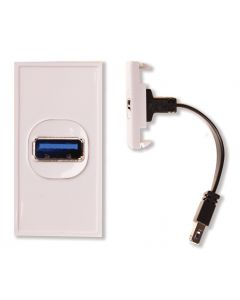 Antiference MW761 USB Module Insert With Tail - White